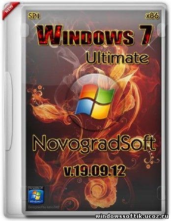 Windows 7 Ultimate SP1 NovogradSoft 19.09.2012 (x86/RUS)