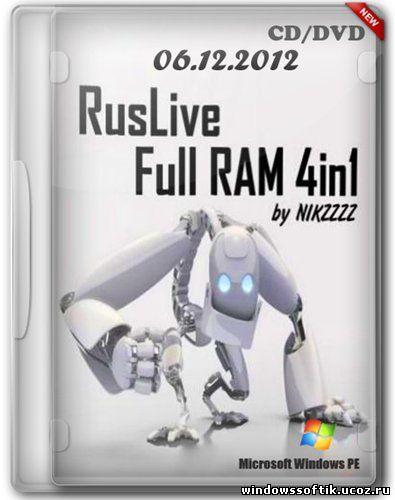 RusLive Full RAM 4in1 by NIKZZZZ CD/DVD (06.12.2012)