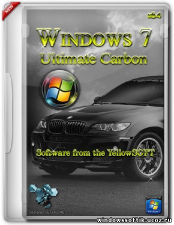 Windows 7 Ultimate Carbon by YelloSOFT (x64/RUS/2012)