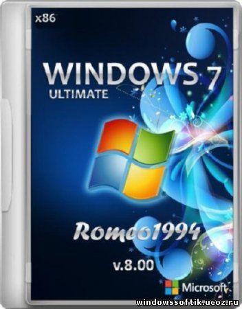 Windows 7 Ultimate by Romeo1994 v.8.00 (x86/RUS/2012)