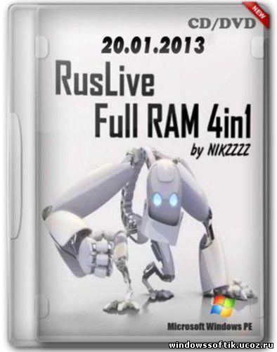 RusLive Full RAM 4in1 by NIKZZZZ CD/DVD (20.01.2013)