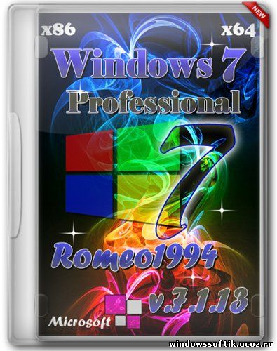Windows 7 x64/x86 Professional by Romeo1994 v.7.1.13 (2013/RUS)
