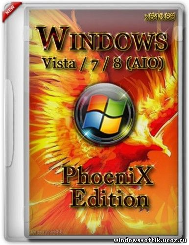 Microsoft Windows Vista / 7 / 8 All-In-One PhoeniX Edition 32bit/64bit (2013/Rus)